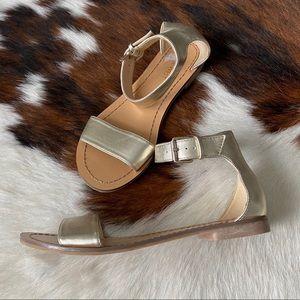 Nine West Gold Ankle Strap Sandals